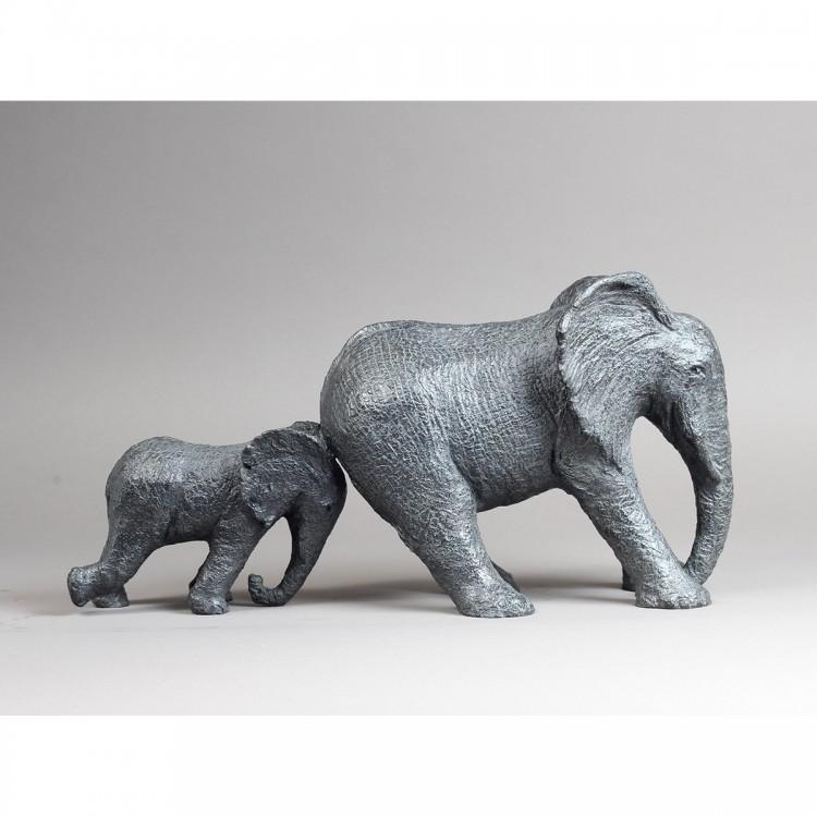 Sculpture Bronze Opposition. Bronze Éléphant