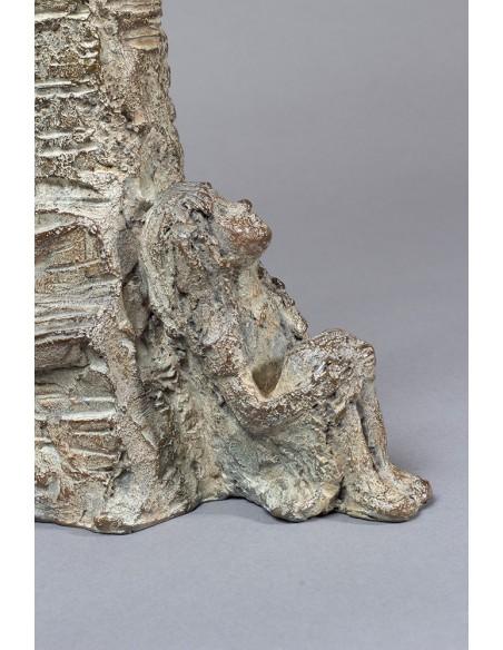 Sculpture bronze Jeune Philosophe détail enfant