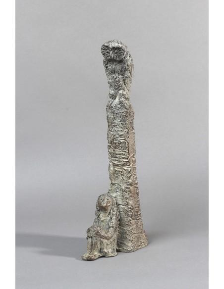 Sculpture bronze Jeune Philosophe vue vers la gauche