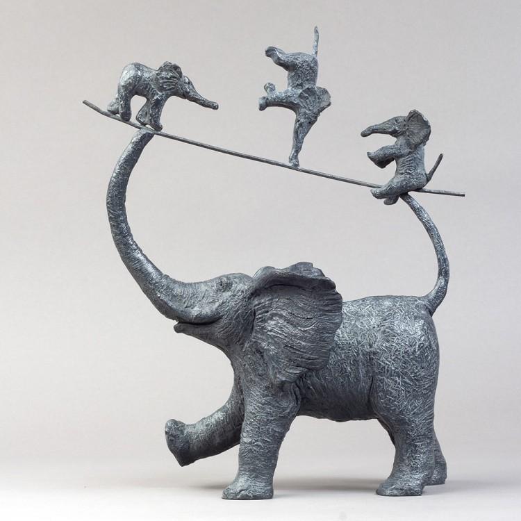 Sculpture Bronze Mes trois garnement