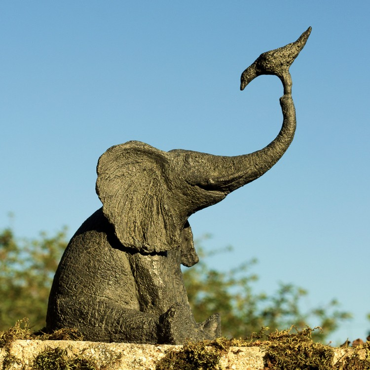 Elephant with Bird