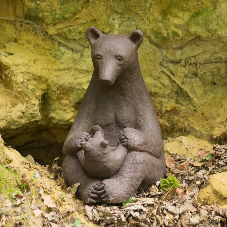 A Bear and Cub in front of...